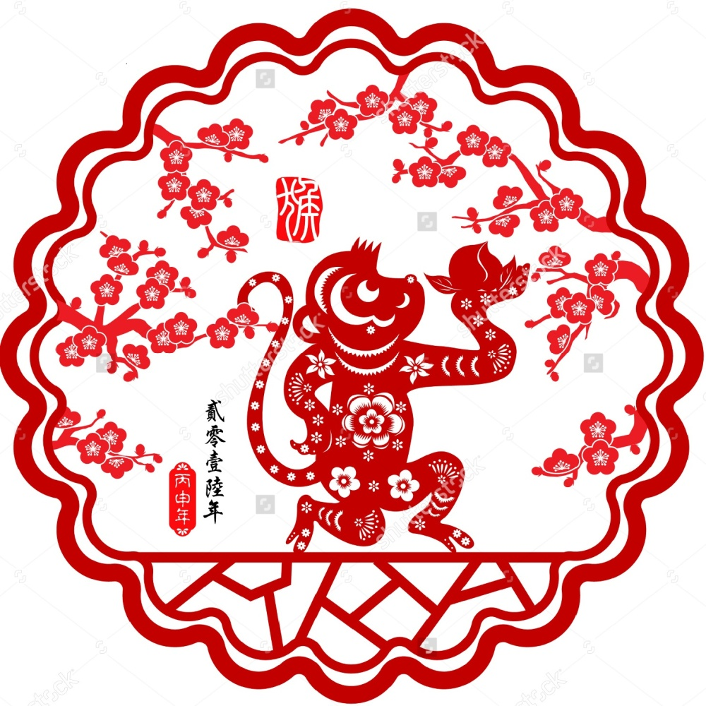 stock-vector--lunar-new-year-greeting-card-chinese-year-of-monkey-by-chinese-paper-cut-arts-monkey-year-291554822
